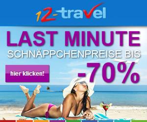12-Travel.ch - Last Minute Schnäppchenpreise bis -70%